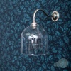Frieda Wall Light Frilled Clear Clear Glass