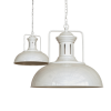 Regent Vintage Pendant Light Clay White