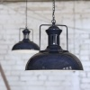 Regent Vintage Pendant Light Squid Ink Blue
