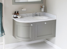 100 Curved Wall Hung Vanity Units