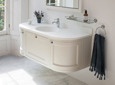 134 Curved Wall Hung Vanity Units