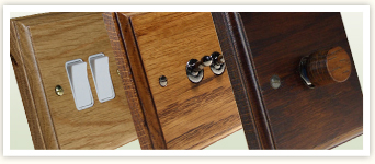 Classic Oak Wood Electrical Switches & Sockets