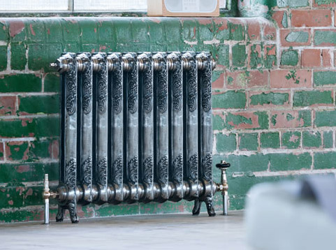 Rococo Single Column Arroll Cast Iron Radiators