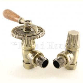 Bentley Lever Handle Radiator Valve - Antique Brass