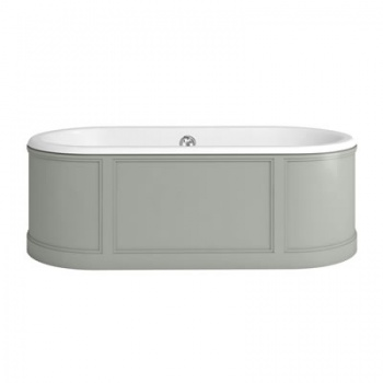 London Bath with Curved Surround incl overflow & waste