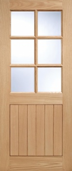 Traditional Oak External Door - Cottage Glazed 6 Pane