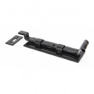 Black 6'' Cranked Door Bolt