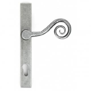 Pewter Patina Monkeytail Slimline Lever Espag. Lock Set - Right Hand