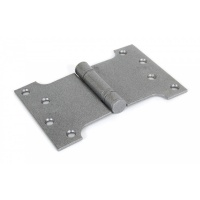Pewter 4'' X 4'' X 6'' Ball Bearing Parliament Hinge (Pair)