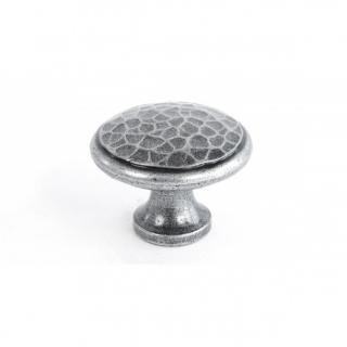 Pewter Beaten Cupboard Knob - Large