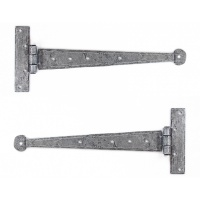 Pewter 12'' T Hinge (Pair)