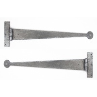 Pewter 22'' T Hinge (Pair)