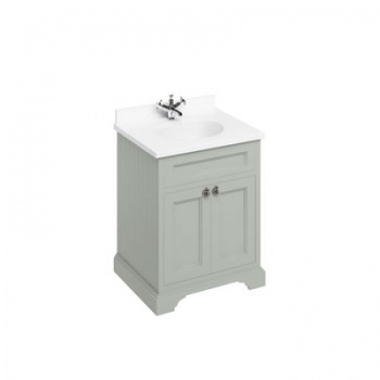 Freestanding 65 Vanity Unit with doors- Minerva White worktop