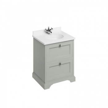 Freestanding 65 Vanity Unit with drawers - Minerva White worktop