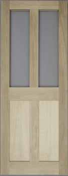 Solid Oak External Door - 4 Panel Glazed