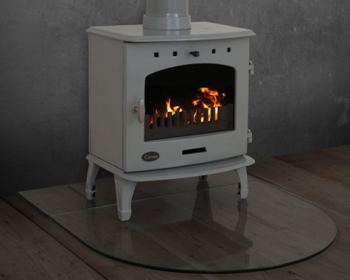 Glass Curved Stove Hearth