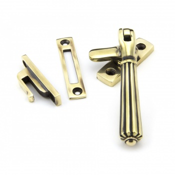 Aged Brass Locking Hinton Fastener