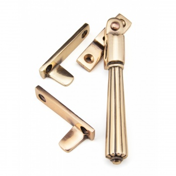 Polished Bronze Night-Vent Locking Hinton Fastener