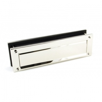 Polished Nickel Traditional Letterbox