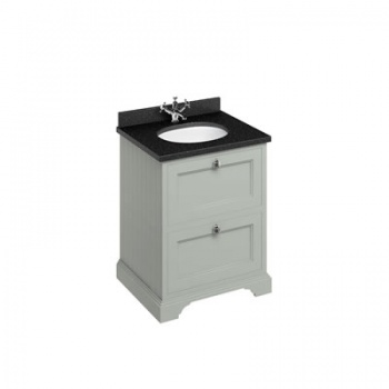 Freestanding 65 Vanity Unit with drawers - Black Granite worktop