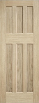 Traditional Oak Internal Fire Door - 60's Style