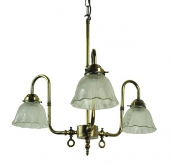 Large Swan Solid Brass 3 Light Ceiling Light