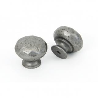 Natural Smooth Hammered Knobs - Small