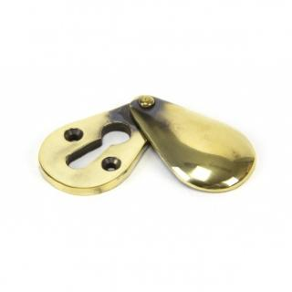 Aged Brass Plain Escutcheon