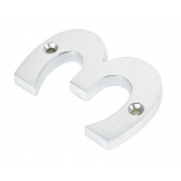 Satin Chrome Numeral No '3'