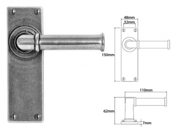 FD181 Finesse Lever on Latch Backplate