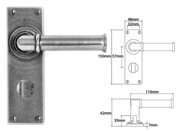 FD182 Finesse Lever on Bathroom Backplate