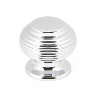 Polished Chrome Beehive Cabinet Knob - Small