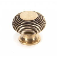 Polished Bronze Beehive Cabinet Knob - Large