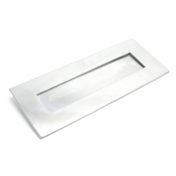 Satin Chrome Small Letter Plate