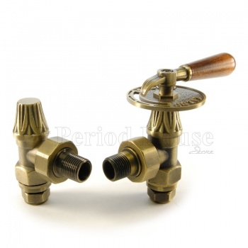 Abbey Lever Radiator Valve 15mm x 1/2 inch in Brass