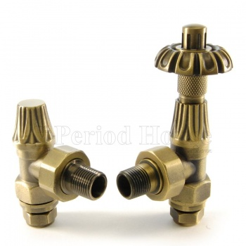 Abbey TRV & LS Angled Radiator Valve 15mm x 1/2 inch in Brass