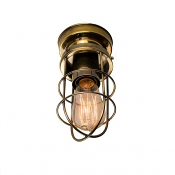 Cellar Flush Light - Antique Brass