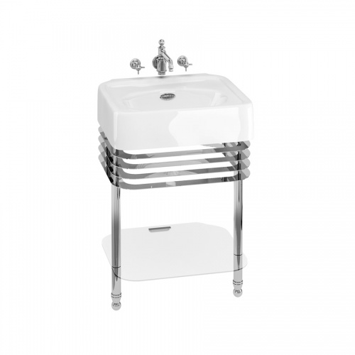Arcade 600mm Basin with Overflow & Basin Stand