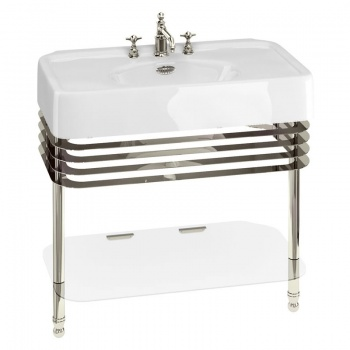 Arcade Bathrooms - 900mm Basin & Nickel Stand