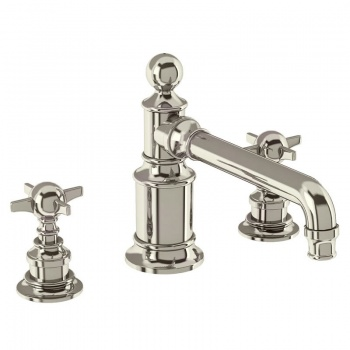 Arcade Bathrooms - Three Hole Basin Mixer Deck - Mounted Without Pop Up Waste