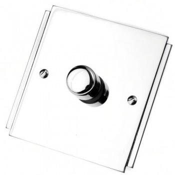Art Deco Polished Chrome Dimmer Switch