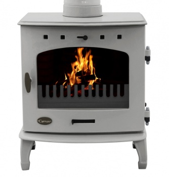 Carron Ash Grey Enamel 7.3kW Multifuel DEFRA Smoke Exempt Stove