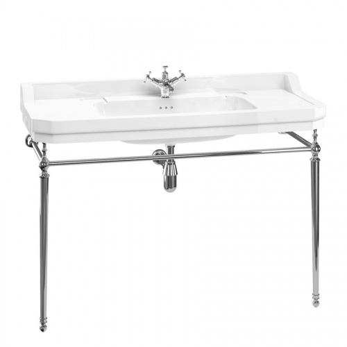 Edwardian 120cm Basin Wash Stand Chrome Plated Brass Fittings