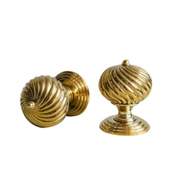 Burcot Brass Door Knobs