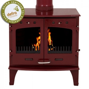 Carron 11KW Stove Red Enamel