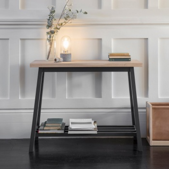Beech Clockhouse Console Table