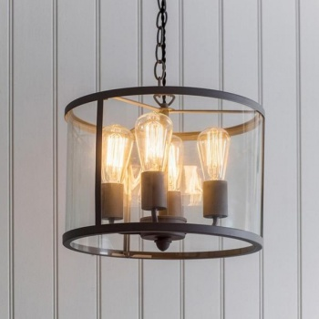 Cadogan Circular 4 Light Pendant in Charcoal