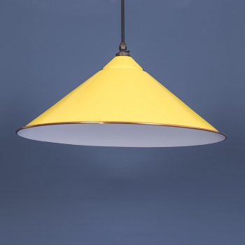 Canary Yellow and White Yardley Pendant