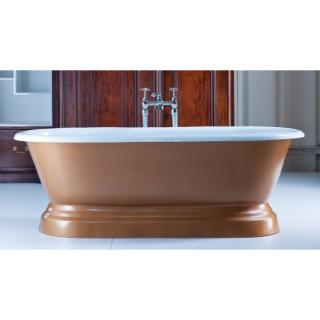 Chaumont Cast Iron Bateau Bath With Plinth