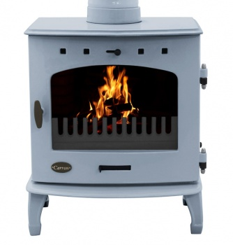 Carron China Blue Enamel 7.3kW Multifuel DEFRA Smoke Exempt Stove[1]